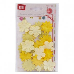 Decorative Paper Flowers / Yellow Mix