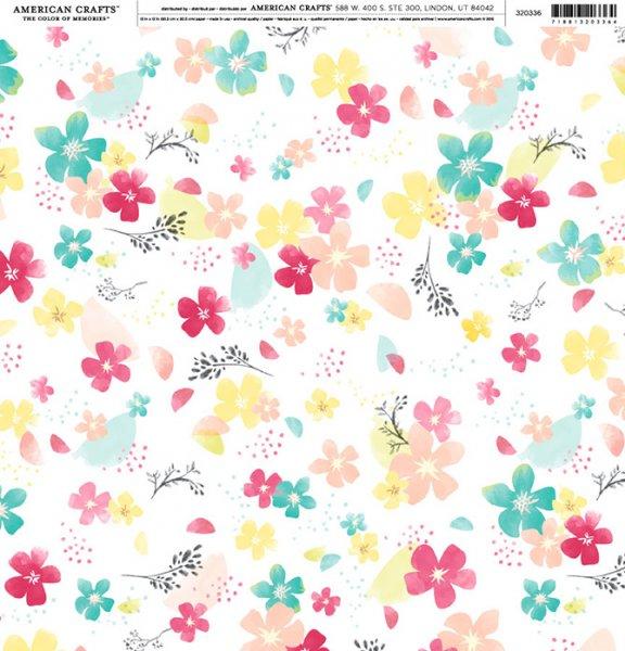 Scrapbooking Paper By American Crafts Blossom Nemravka Cz