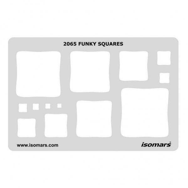 Shape Template | Shape Template Funky Squares 2065