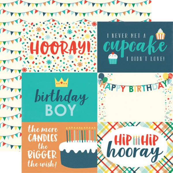 Scrapbooking Paper By Echo Park 4 X 6 Happy Birthday Boy Nemravka Cz