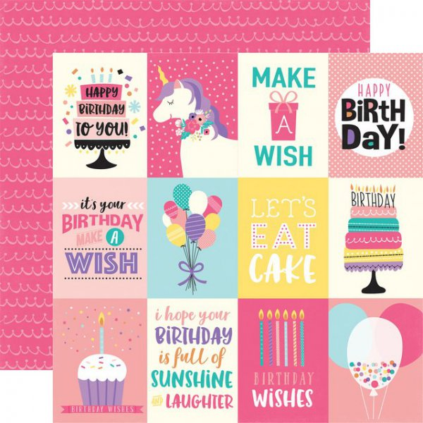 Scrapbooking Echo Park 3 X 4 Happy Birthday Girl Nemravka Cz