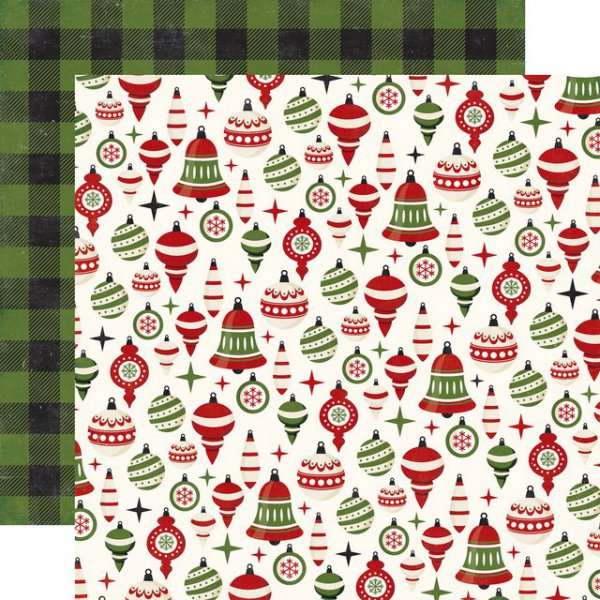 Christmas Scrapbook Paper.Scrapbooking Paper Echo Park A Perfect Christmas Holiday Ornaments